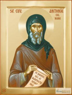 Sfântul Antonie cel Mare. Icoană litografiată