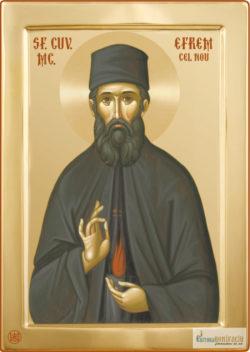 Sfântul Efrem cel Nou. Icoană litografiată.