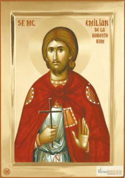 Sfântul Mucenic Emilian de la Durostorum. Icoana litografiată.