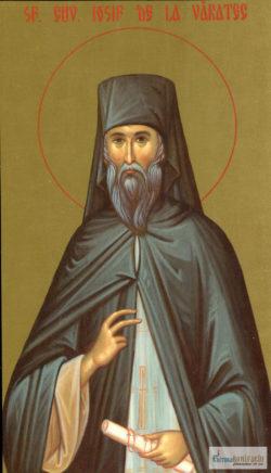 Sfântul Cuvios Iosif de la Văratec. Icoană litografiată.