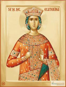 Sfânta Muceniţă Ecaterina. Icoană litografiată.