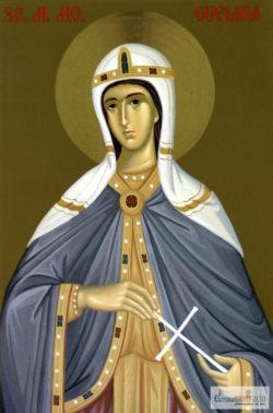Sfânta Mare Muceniţă Eufimia. Icoană litografiată.