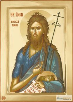 Sfântul Ioan Botezătorul. Icoana litografiată.