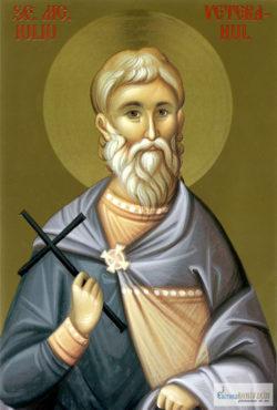 Sfântul Mucenic Iuliu Veteranul. Icoana litografiată.