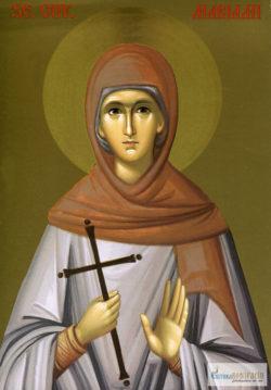 Sfânta Cuvioasă Mariami. Icoană litografiată.