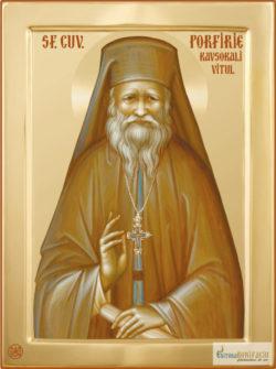 Sfântul Porfirie. Icoana litografiată