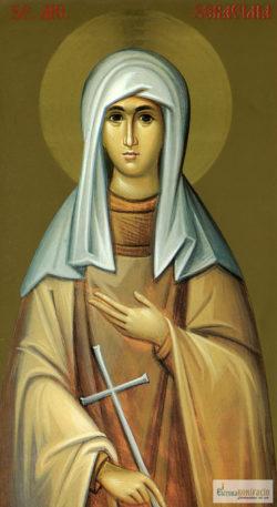 Sfânta Muceniță Serafima. Icoana litografiată