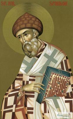 Sfântul Ierarh Spiridon. Icoană litografiată