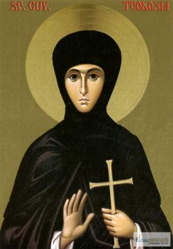 Sfânta Cuvioasă Teodosia. Icoană litografiată.